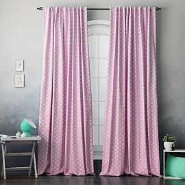 """Комплект штор """"Сири"""", розовый, 170*270 см"""