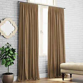 """Комплект штор """"Ким"""", коричневый, 200*270 см"""