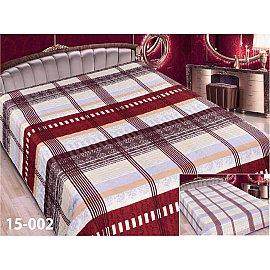 Покрывало Elegant (пэчворк) №15-002, бежевый, сиреневый, бордовый, 220*240 см