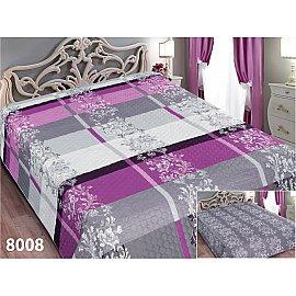 Покрывало Elegant (пэчворк) №8008, серый, белый, сиреневый, 200*220 см