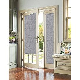 """Рулонная штора для балконной двери """"Агат серый"""", 52 см"""