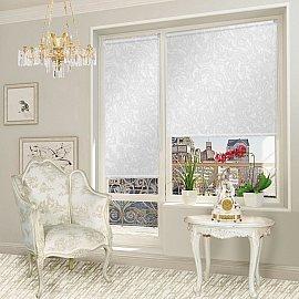 """Рулонная штора для балконной двери """"Арабеска белый"""", 62 см"""