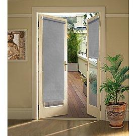 """Рулонная штора для балконной двери """"Серый"""", 52 см"""