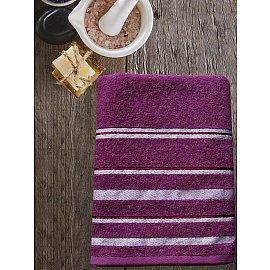Полотенце махровое TexRepublic Cotton Line, фиолетовый, 70*130 см