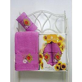 Комплект махровых полотенец Merzuka Sunflower дизайн 06 (50*80; 70*130)