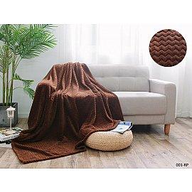 Плед акриловая микрофибра SOFT PLUSH дизайн 001-sp, 150*200 см