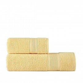 Полотенце однотонное Arya Solo Soft, желтый, 30*50 см