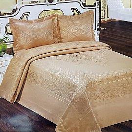 Покрывало Arya жаккард Palace, коричневый, 240*260 см