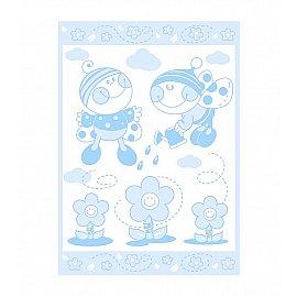 """Одеяло детское """"Букашка"""", бел-голуб 100*140 см"""
