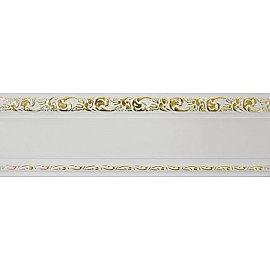 """Карниз потолочный пластиковый без поворота """"Гранд"""", 2 ряда, белое золото, 340 см"""