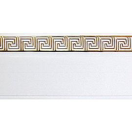 """Карниз потолочный пластиковый без поворота """"Греция"""", 2 ряда, белый, 360 см"""