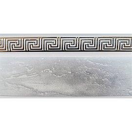 """Карниз потолочный пластиковый без поворота """"Греция"""", 2 ряда, белый мрамор, 340 см"""