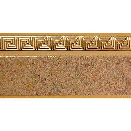 """Карниз потолочный пластиковый без поворота """"Греция"""", 2 ряда, песок, 220 см"""