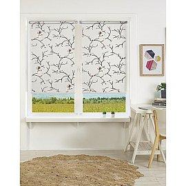 """Рулонная штора mini """"Naturel"""" бежево-коричневый цветок, 140 см"""