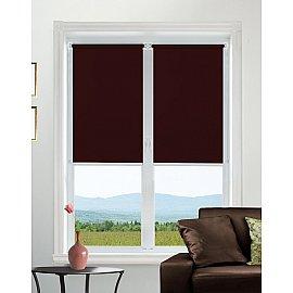 "Рулонная штора mini ""Satin"", бордовый, 120 см"