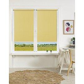 "Рулонная штора mini ""Satin"", желтый, 37 см"