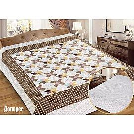 """Одеяло-покрывало I.M.A. Gold """"Долорес"""", белый, коричневый, 230*250 см"""
