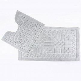 Набор ковриков для ванной Arya Berceste (60*100 см; 50*60 см), серый