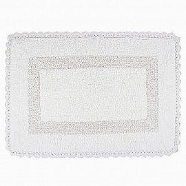 Коврик для ванной с гипюром Arya Lupen, белый, 60*90 см