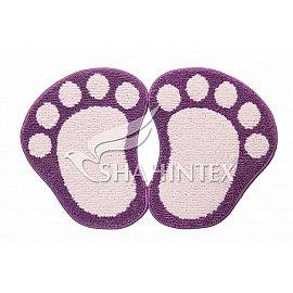 Коврик Shahintex Лапки Microfiber разделенные, фиолетовый 61, 50*80 см