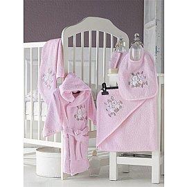 """Набор махровый детский """"KARNA BABY CLUP"""" на 1-3 года, розовый"""