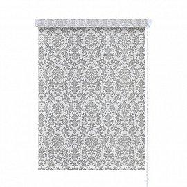 """Рулонная штора ролло """"Дамаск"""", серебро, 90 см"""