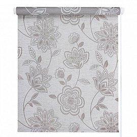 "Рулонная штора ""Флоренс"", серый лен, 57 см"