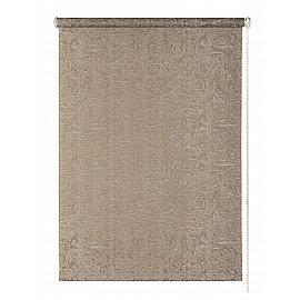 "Рулонная штора ""Фрост"", бежево-серый, 61,5 см"
