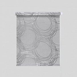 """Рулонная штора """"Галактика"""", серый, 66 см"""