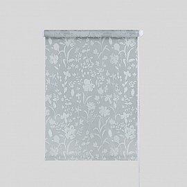 "Рулонная штора ""Ирисы"", серый, 61,5 см"