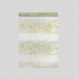 """Рулонная штора """"Тропик"""", желтый, 114 см"""