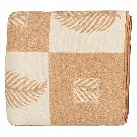"""Одеяло шерстяное """"Лист"""", белый, бежевый, 170*210 см"""