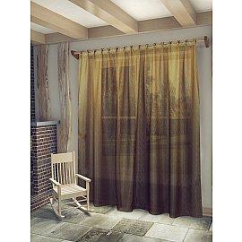 """Тюль """"Маргарет"""", коричневый, 300*260 см"""