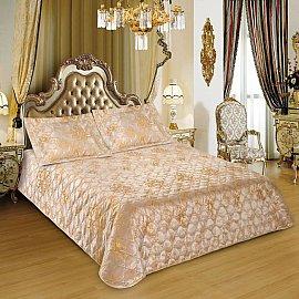Покрывало I.M.A. LUX Жаккард с наволочками №210-1, золотой, 230*250 см