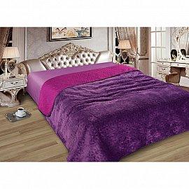 Покрывало Elite с мехом №08, фиолетовый, сиреневый, 230*250 см