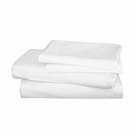 Простынь сатин Mona Liza Premium White, 150*215 см
