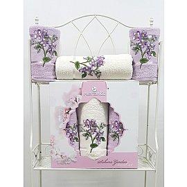 Комплект махровых полотенец Sakura Garden в коробке (50*80; 70*130), сиреневый