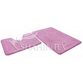 Набор ковриков Shahintex ЭКО (45*71+45*43), розовый 64