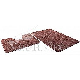 Набор ковриков Shahintex ЭКО (45*71+45*43), шоколадный 37