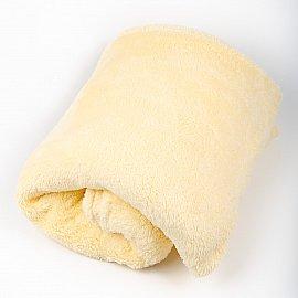 """Плед """"Короткий мех"""", кремовый, 200*220 см"""