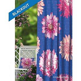Шторы Прованс Блэкаут Summer Garden, синий, розовый