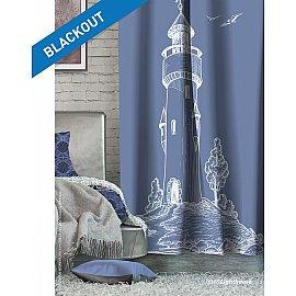 Шторы Лофт Блэкаут Lighthouse, синий