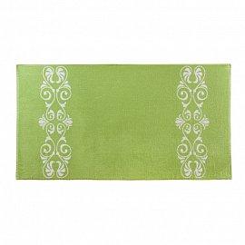 """Полотенце """"Aquarelle Шарлиз"""", белый, травяной, 50*90 см"""