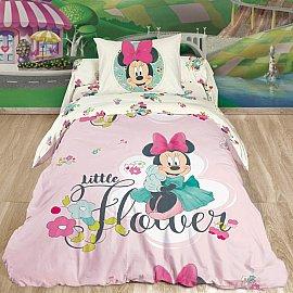 """КПБ """"Minnie Mouse"""" с наволочкой 70*70, розовый (1.5 спальный)"""
