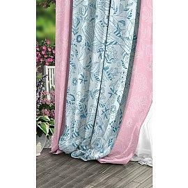 Шторы Прованс Габардин Diverse, розовый, голубой