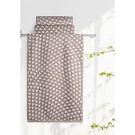 """Полотенце """"Aquarelle Борнео-2"""", мокко, белый, 35*70 см"""