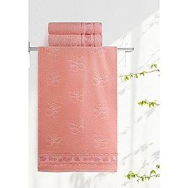 """Полотенце """"Aquarelle Бабочки"""", розово-персиковый, 35*70 см"""