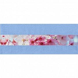 """Полотенце """"Aquarelle Фотобордюр цветы-1"""", светло-васильковый, 50*90 см"""