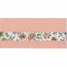 """Полотенце """"Aquarelle Фотобордюр цветы-2"""", розово-персиковый, 50*90 см"""