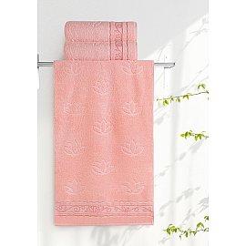 """Полотенце """"Aquarelle Лотос"""", розово-персиковый, 70*140 см"""